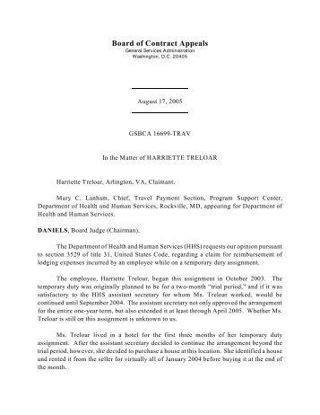 Board of Contract Appeals - gsbca - GSA