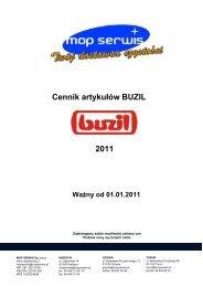 Cennik artykułów BUZIL 2011