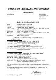 KM Halle: Hoch, Weit - HLV Odenwald