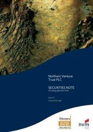 Northern Venture Trust PLC SECURITIES NOTE - Clubfinance