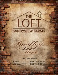 Menu - SandyView Farms