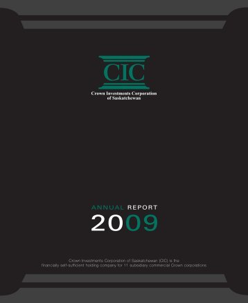 CIC ANNUAL REPORT APR2010 - Crown Investments Corporation