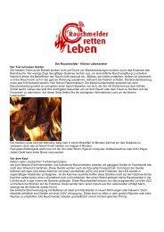 Der Rauchmelder - Kleiner Lebensretter Der  Tod auf leisen ... - Sanem
