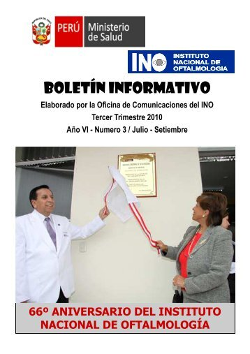 BOLETIN JULIO - SETIEMBRE 2010.pub - Instituto Nacional de ...