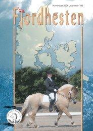 November 2006 . nummer 185 - Fjordhesten Danmark