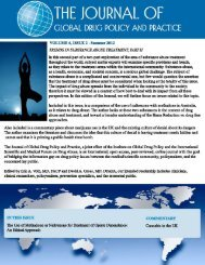 VOLUME 6, ISSUE 2 - The Institute on Global Drug Policy