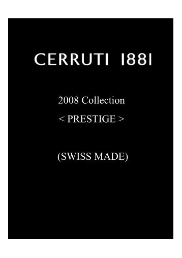2008 Collection < PRESTIGE > (SWISS MADE)