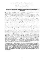 Tiergehege - Hinweise zum Artenschutz - Wartburgkreis
