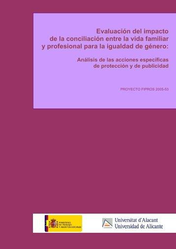 Evaluación del impacto de la conciliación entre ... - Seguridad Social