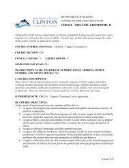 Organic Chemistry II - Clinton Community College