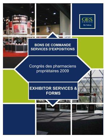 Congrès des pharmaciens propriétaires 2009 EXHIBITOR ... - GES
