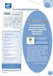Newsletter AICLU n.20, giugno 2012 - Servizio linguistico (SeLdA ...