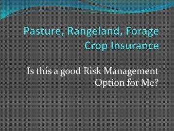 Rainfall Index-Pasture Rangeland Forage