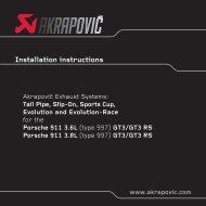 Installation instructions - Akrapovic Auspuff