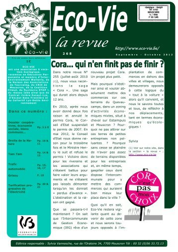 n° 268 septembre-octobre 2012 - Eco-Vie
