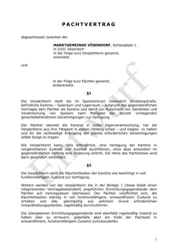 Dreiseitiger Pachtvertrag Muster