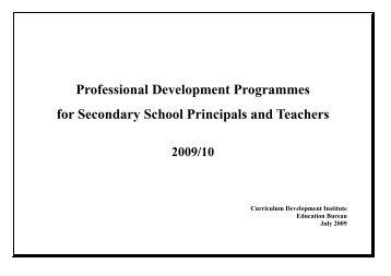 Professional Development Programmes for Secondary School ...