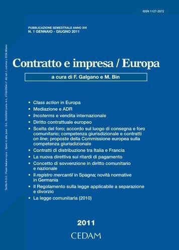 Contratto e impresa / Europa - Shop WKI - Wolters Kluwer Italia