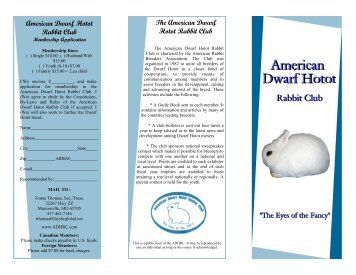 DH Brochure 2006 color - the American Dwarf Hotot Rabbit Club
