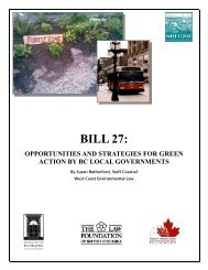Bill 27: Opportunities and strategies for Green Action ... - Waterbucket