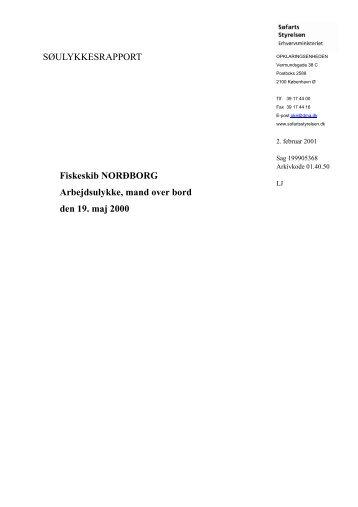 NORDBORG - Arbejdsulykke den 19. maj 2000