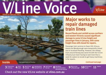 Major works to repair damaged train lines - V/Line