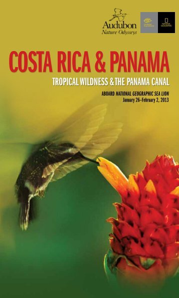 Costa Rica & Panama - National Audubon Society Get Outside