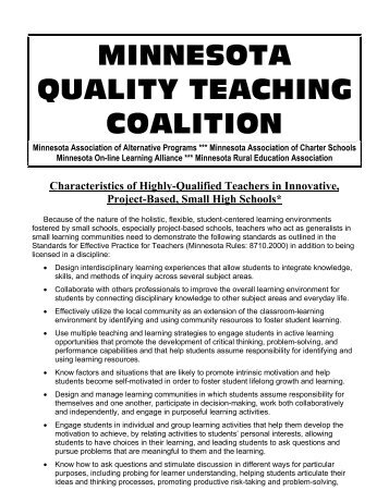 Characteristics of Highly-Qualified Teachers in Innovative, Project ...