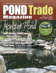Download the July / August, 2010 PDF - Pond Trade Magazine