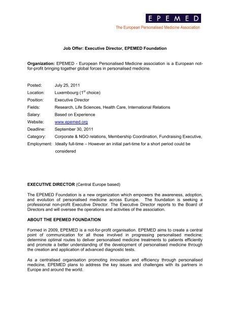 Konstantinos Lykopoulos - EPEMED - The European Personalised