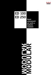 Automazione per porta a battente ED 100 – ED 250 - Grimas S.r.l.