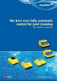The best ever fully automatic control for pool cleaning - Mariner 3S AG