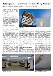Řešení pro zateplení stropů suterénů: Ytong Multipor