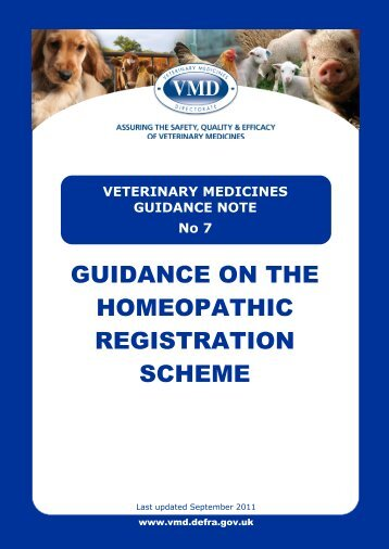Guidance on the Homeopathic Registration Scheme - Veterinary ...
