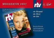 Tarif 2007 - MD MEDIEN DIENSTE Gmbh