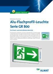 Alu-Flachprofil-Leuchte Serie GR 800 - ALMAT AG