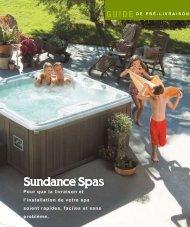 2008 JHT Pre-delivery Guide - Sundance Spas