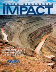 impact - American Water Resources Association