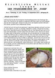 Kimi 06 2012 als PDF zum runterladen - Kirchengemeinde St. Josef
