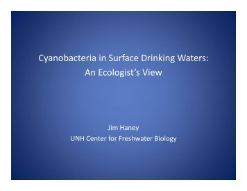 Cyanobacteria in Surface Drinking Waters: An ... - NEIWPCC