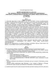master universitario di ii livello in tmj: diagnosi e ... - Agopuntura.org
