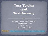 Test Taking Presentation – PUCCC (PDF) - Purdue University Calumet