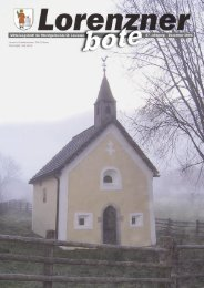 Lorenzner Bote - Ausgabe Dezember 2006 (1,99 MB