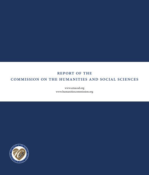 Report - Commission on the Humanities and Social Sciences