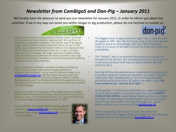Newsletter from ComBigaS and Dan-Pig – January 2011 We hereby ...
