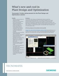 What's New and Cool in Plant Design and Optimization - Geometric ...
