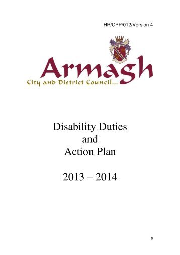 Disability Duties and Action Plan 2013 – 2014 - Armagh City and ...