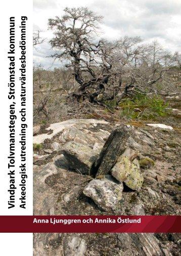 Arkeologisk utredning och naturvärdesbedömning ... - Ledsjö Vind AB