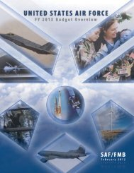 FY13 Budget Overview - Air Force Financial Management ...