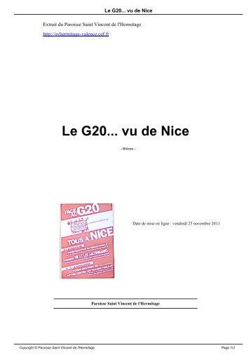 Le G20... vu de Nice - Paroisse Saint Vincent de l'Hermitage